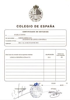 Colegio de España: Spanish Language (C1), 2010