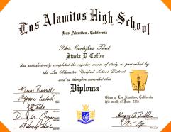 Los Alamitos High School Diploma, 2011