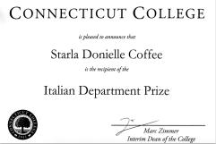 Italian Department Prize, 2015
