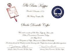 Phi Beta Kappa, 2015
