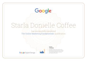 Google Online Marketing Fundamentals, 2018
